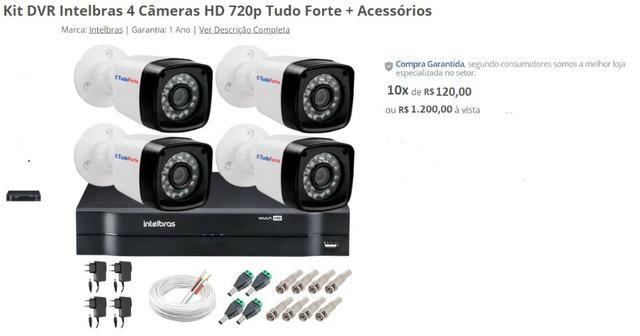 4 Câmeras HD 720p Tudo Forte + Acessórios