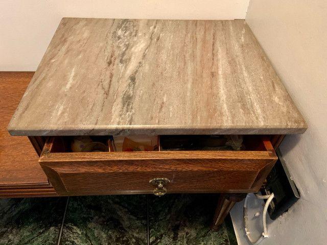 Mesa de telefone com assento e tampo de mármore  - Foto 5