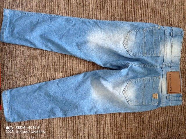 Calça jeans infantil tamanho 8 - Foto 2
