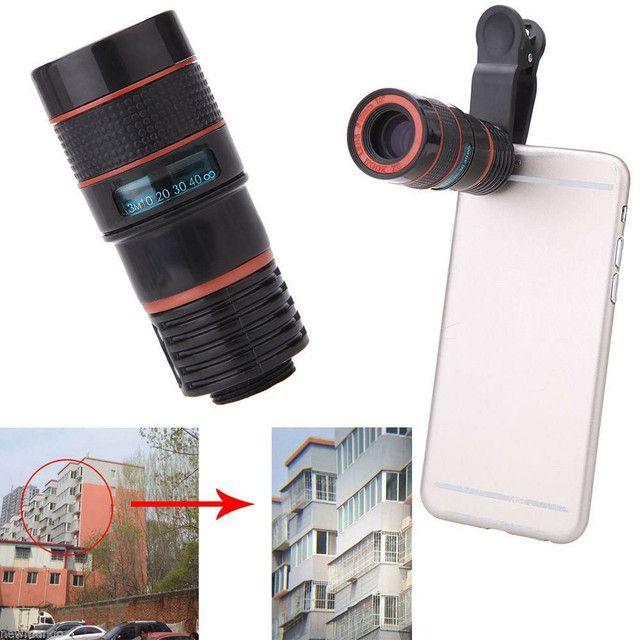Lente Zoom 8x Câmera Celular Para Smartphones