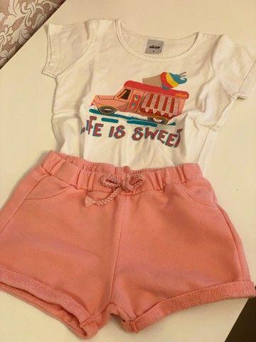 Combo roupas menina de 4-5 anos  - Foto 4