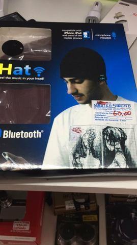 Toca com bluetooth e microfone stéreo