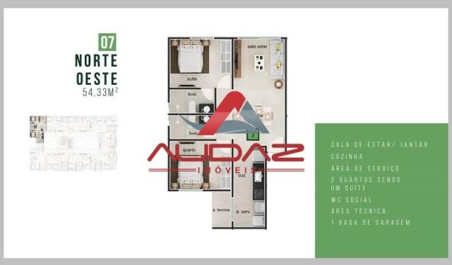 Apartamento à venda com 2 dormitórios em Bancários, João pessoa cod:1696 - Foto 18