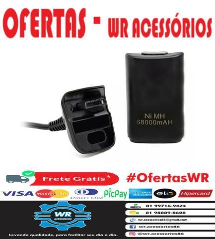Cabo Carregador + Bateria Xbox 360 - ENTREGA GRÁTIS - Foto 2