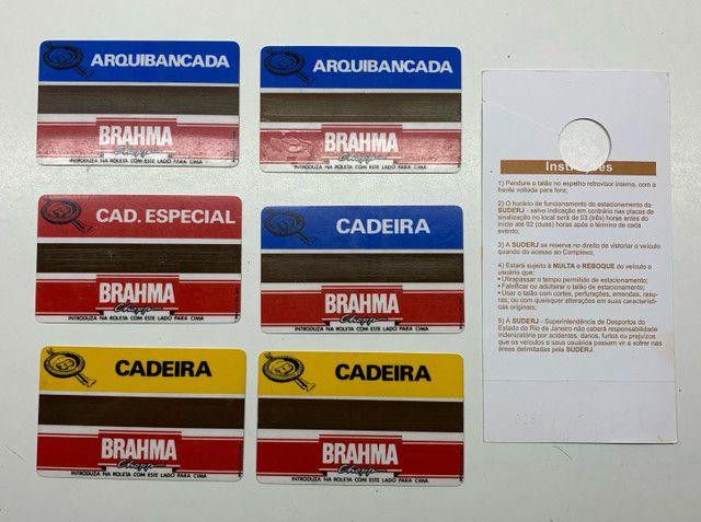 Maracanã -Cartões magnéticos usados como ingressos ao estádio . - Foto 2