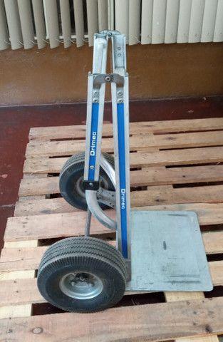 Carrinho carga dobrável em alumínio Drimec Semi-novo - Foto 6