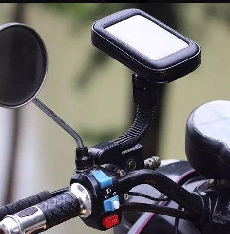 Suporte Smartphone Gps Tela 6,3 Polegadas Para Moto Biz Impermeável - Foto 3