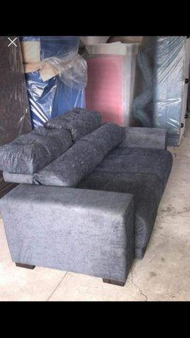 Sofá retrátil 2 lugares reclinável 5 posições com frete incluso - Foto 2