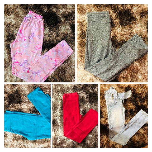 Lote de roupas tamanho 8/10/12 são 70 peças  - Foto 4