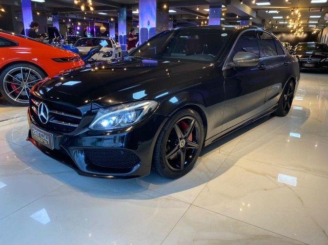 Mercedes C250 Sport, 2015, interior vermelho, blindada nível 3A, configuração Linda  - Foto 2