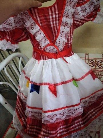 Vestido junino usado apenas uma única vez no ano passado - Foto 2