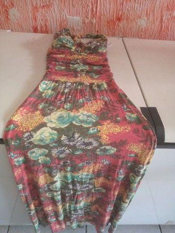 Vendo vestido longo de malha fria, novo 90 reais. Cristiane 83. 98719_8584 - Foto 2