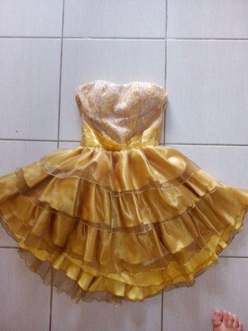 Vestido de festa dourado - Foto 2