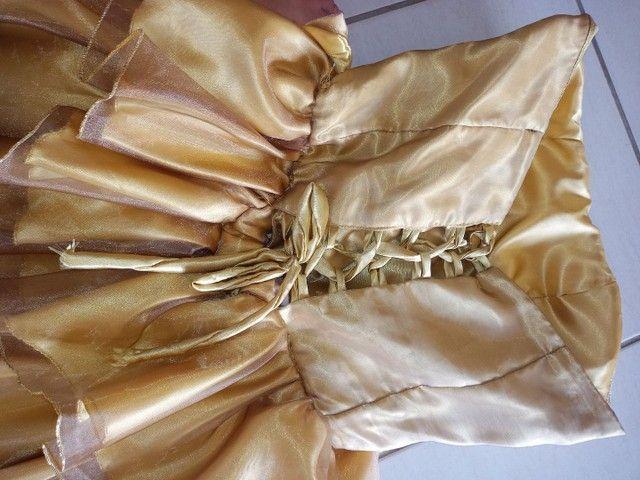 Vestido de festa dourado - Foto 4