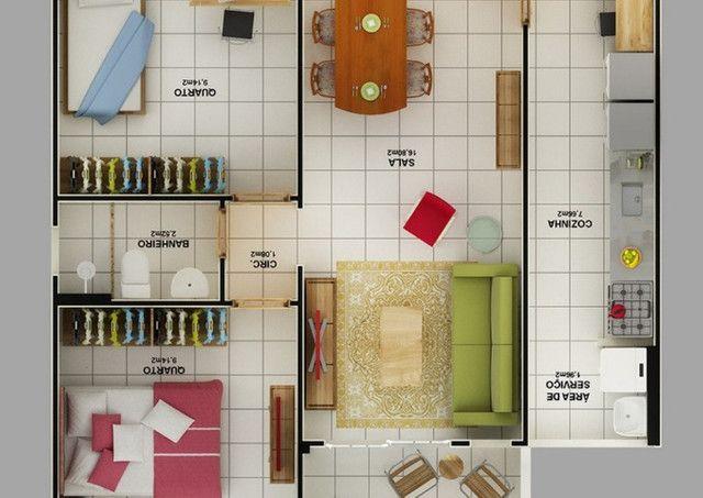 Apartamento 2Qts com varanda em Mesquita, aceito financiamento caixa - Foto 18