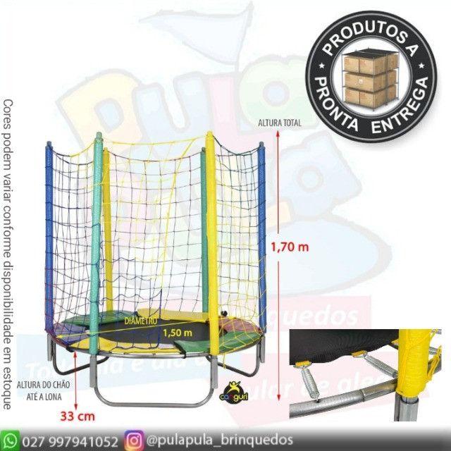 Venda Pula Pula 2,44m Slim (rede alta mais segura) a pronta entrega - Foto 3