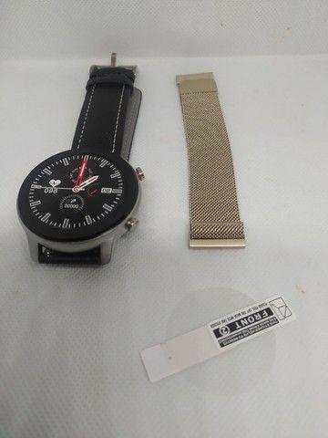 Smartwatch DT78 - Película e Pulseira Extra de Brinde - Novo - Foto 3