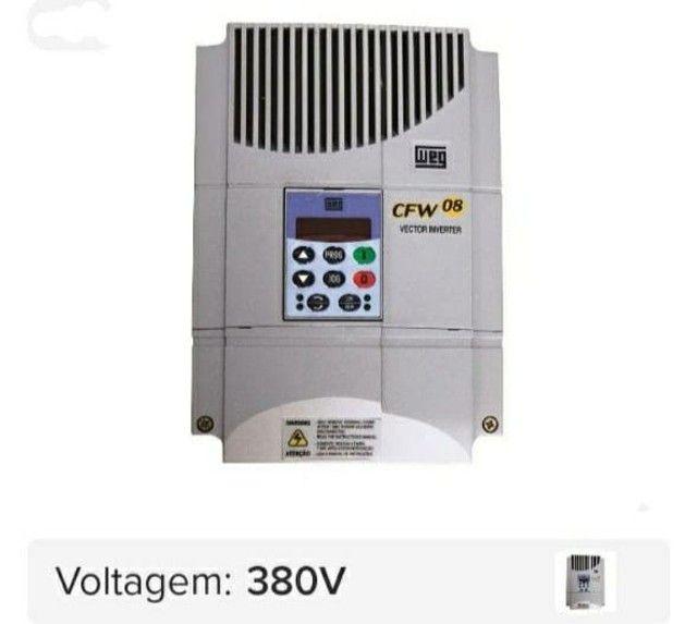 Inversor de frequência Cfw08 10cv 16a 380v seg trifásico