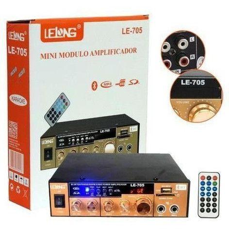 Mini Amplificador universal para uso em carros ou residências.