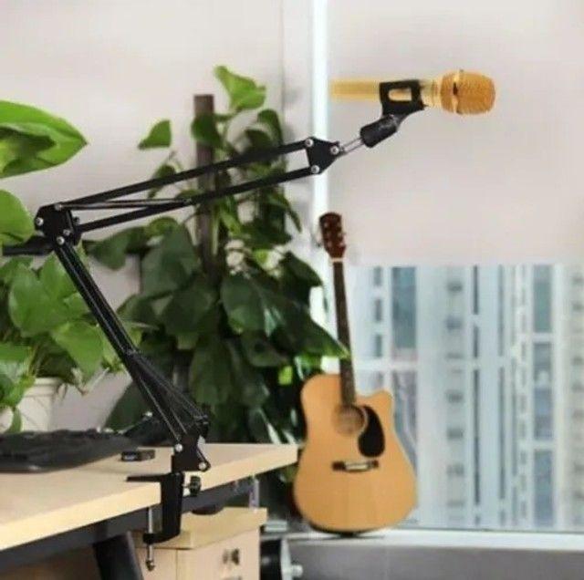 Suporte Pedestal Articulável Para Microfone Knup Kp-m0017O  - Foto 4