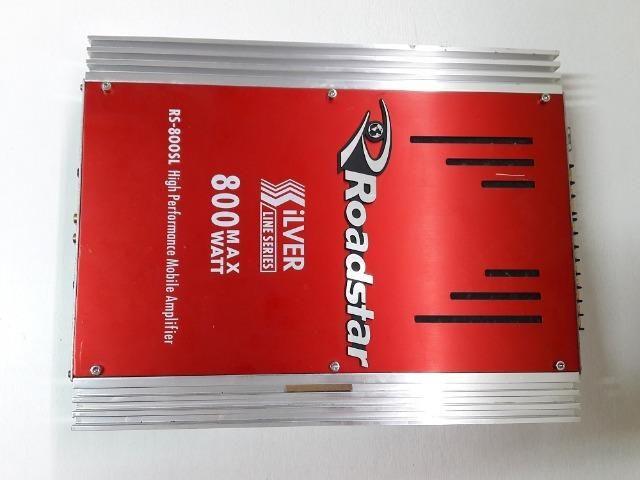 Modulo amplificador Roadstar Silver RS-800SL 800W 4 canais