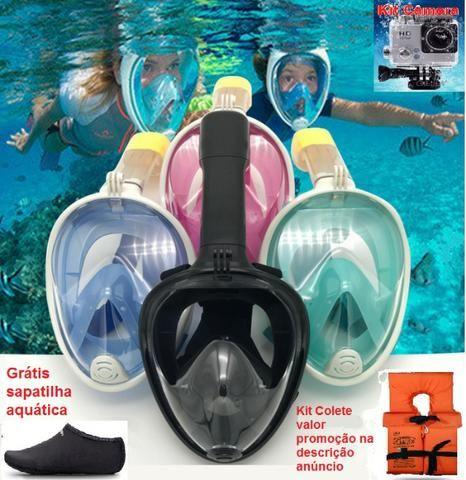 87b3e0a5c Máscara de mergulho snorkel +Brinde sapatilha - Esportes e ginástica ...