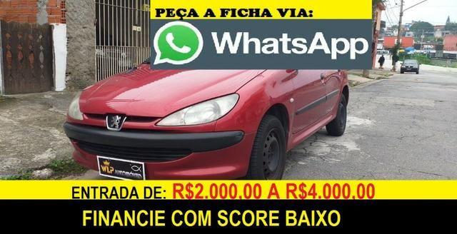 Peugeot 206 Completo 4 portas Financie com score baixo