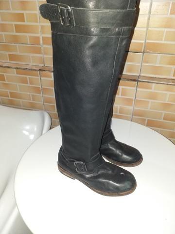 354b98f4be Bota cano longo salto baixo n37 - Roupas e calçados - Cuiá