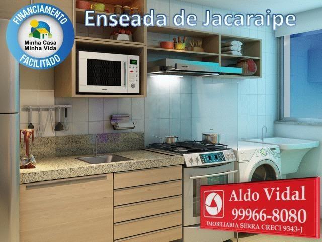 ARV34- Apê Novo em Jacaraipe, 2 quartos com suíte e varanda - Foto 12