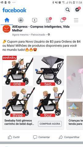 Procura-se carrinho de bebê pra duas crianças com idades diferentes - Foto 2