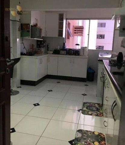 Apartamento com 3 dormitórios à venda, 120 m² por R$ 490. - Bosque da Saúde - Cuiabá/MT - Foto 3