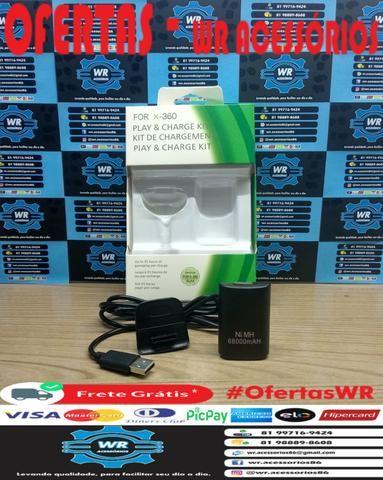 Cabo Carregador + Bateria Xbox 360 - ENTREGA GRÁTIS - Foto 3