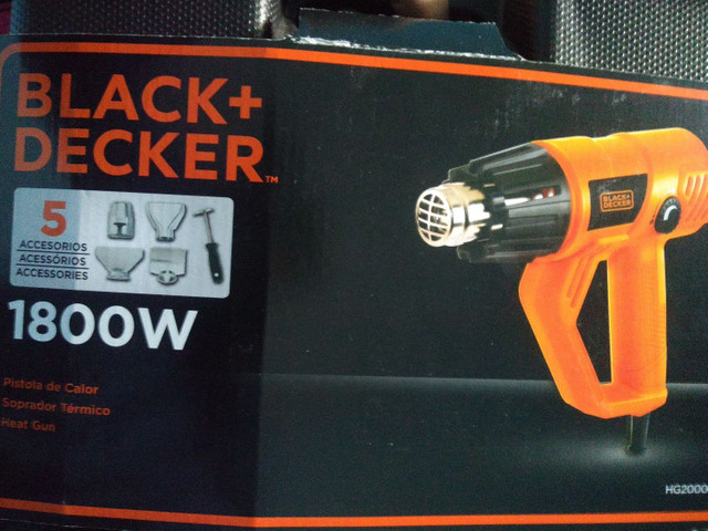 SOPRADOR TERMICO HEAT GUN BLACK DECKER 1.800 W - Foto 3