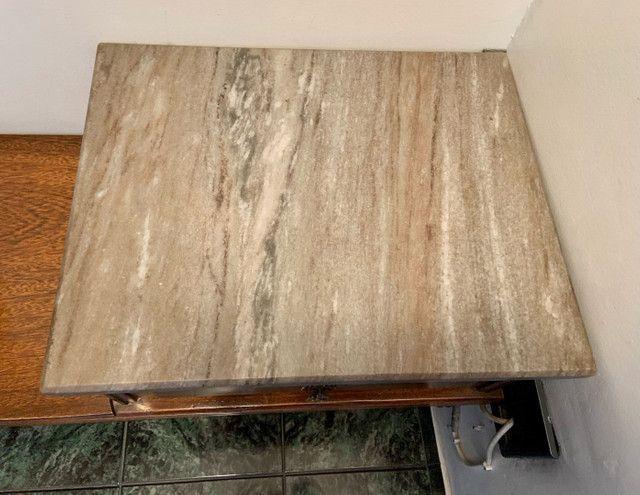 Mesa de telefone com assento e tampo de mármore  - Foto 4