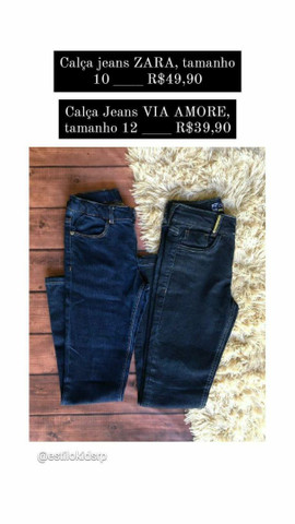 Short, blusa & calça jeans infantil. - Foto 2