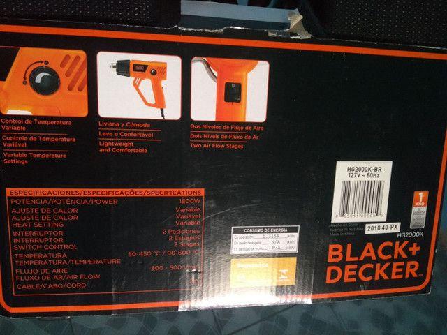 SOPRADOR TERMICO HEAT GUN BLACK DECKER 1.800 W - Foto 4