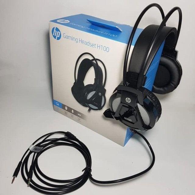 Fone HP Headset P2 Gamer H100 Preto PS4 PC gamer - Foto 3