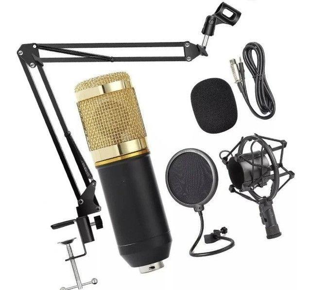 Kit Microfone Condensador Profissional bm900 completo. - Foto 4