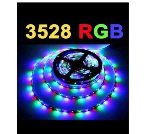 Fita Led Rgb 3528 5 Metros 300 Leds Dupla Face Ip65 Prova Dágua Controle/Fonte(a103) - Foto 4