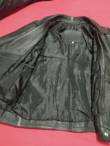 Jaqueta de couro masculina - Foto 4