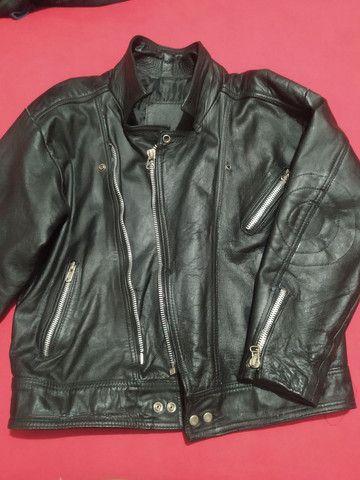 Jaqueta de couro masculina - Foto 2