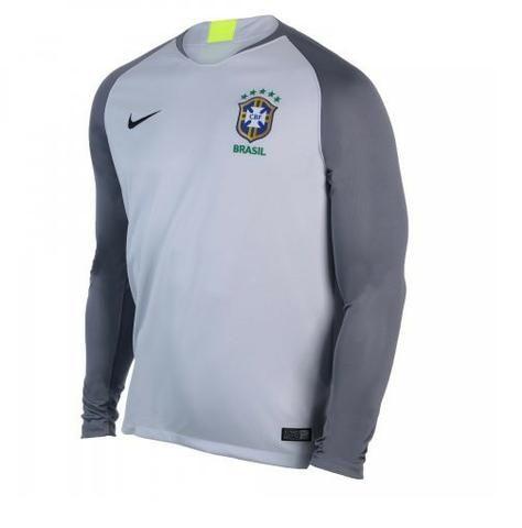23edad5959 Camisa Brasil Nike Goleiro Selecao 18 cza sn tam  p-m-g-gg-xg ...