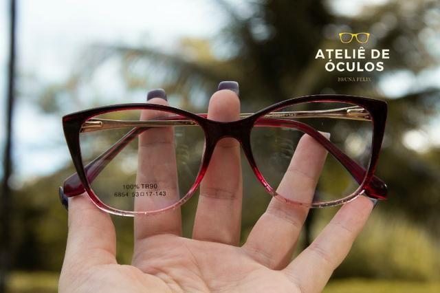 37ff7f67d Armação para óculos de grau acetato vinho degrade 6854 53.17 ...