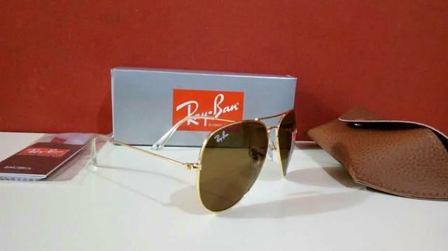 33a6506a6 Óculos de sol Ray Ban Aviador Unissex Novo Frete grátis - Foto 6