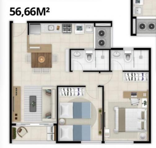 Apartamento com 2 Quartos mais Suite Master à venda no Bairro Benfica - AQUARELA CONDOMÍNI - Foto 20