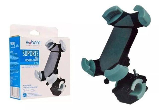 Suporte de Celular SmartPhone Gps Para Moto e Bicicleta Exbom SP-C86 - Foto 2