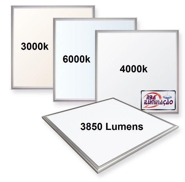 Painéis LED 625x625mm 48w Forro modular ou Gesso