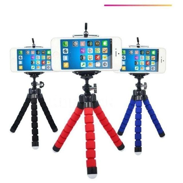 Mini Tripé Flexível  Celulares E Câmeras  Suporte Universal