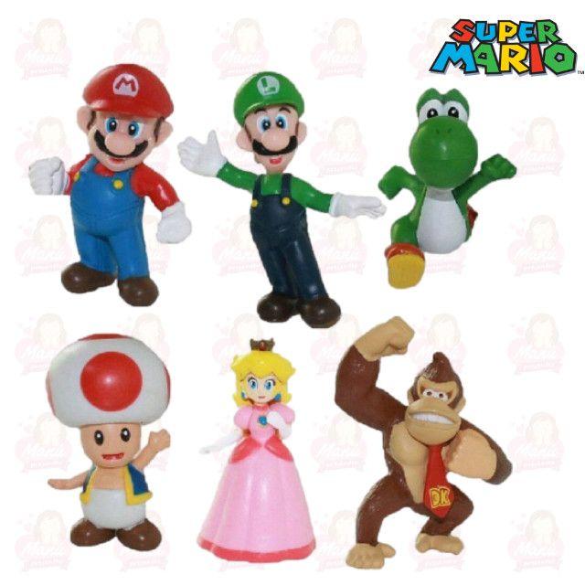 Kit Mário PVC/Plástico miniaturas com 6 personagens - Foto 3