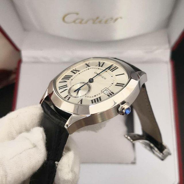 Relógio Cartier de Couro Preto Automático  - Foto 2